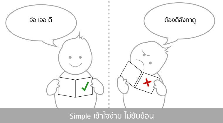 Simple เข้าใจง่าย ไม่ซับซ้อน