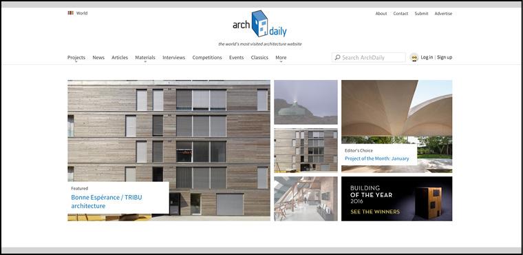 10 เว็บไซต์สถาปัตย์ ดีดี archdaily
