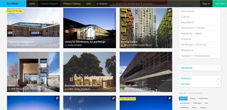 8 เว็บไซต์สถาปัตย์ ดีดี architizer