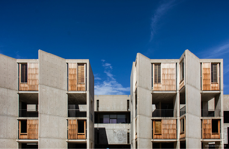 elevation Salk Institute Louis Kahn หลุยส์ คาห์น