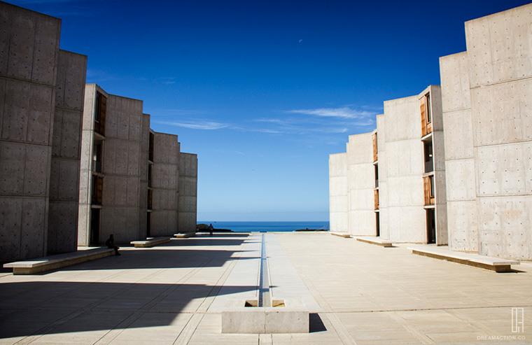 grand view - Salk Institute Louis Kahn หลุยส์ คาห์น