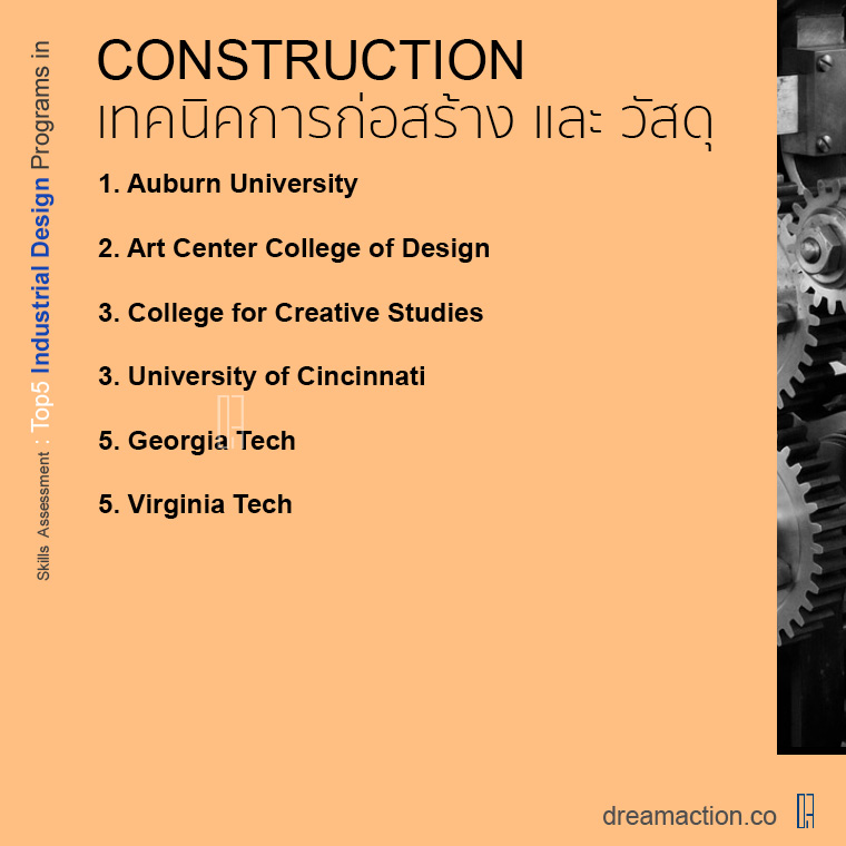 สายเฉพาะทาง โรงเรียนออกแบบอุตสาหกรรม Industrial design มีชื่อเสียง ในอเมริกา ปริญญาโท