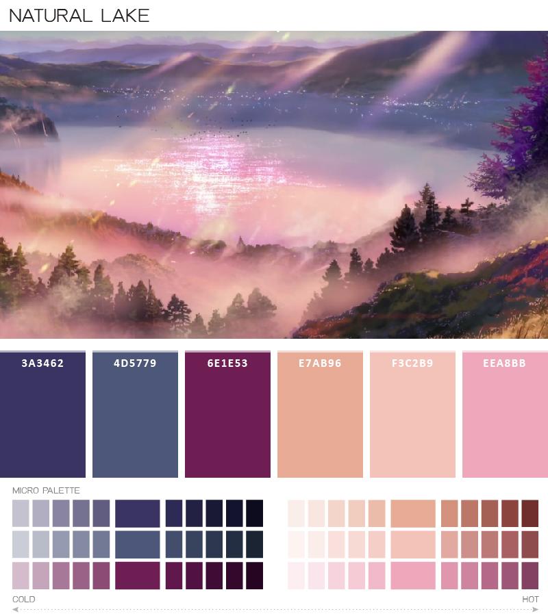 kimi no nawa color palette งานกราฟฟิค ตีมสี สกีมสี จานสี