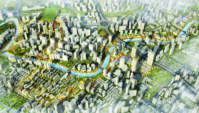 การพัฒนาเมือง ภูมิสถาปัตยกรรรม ออกแบบเมือง ริมน้ำ ซาซากิ เซี่ยงไฮ้ SASAKI Suzhou creek