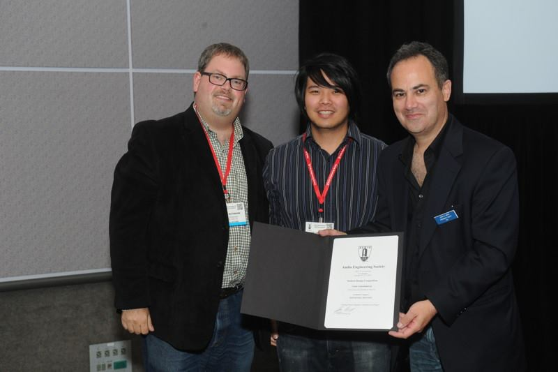 Max AES Award with judges